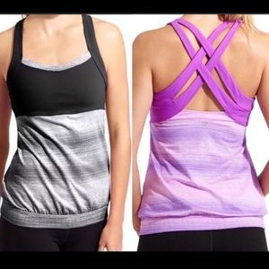 NWT Athleta STRIDE CRUNCH AND PUNCH TOP SIZE L